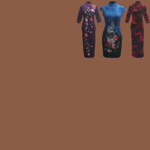 Velvelt Chinese Dresses