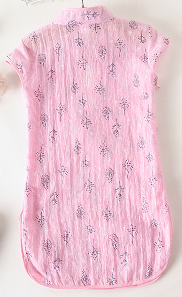 7Fairy Kids' Pink Cotton Traditional Tree Chinese Keyhole Dress Qipao Cheongsam